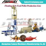 floating fish feed pellet machine, fish food pressing machine, feed pellet production line