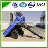 2014 New agricultural equipment matched mini farm walking tractor self-tipping type trailer semi trailer