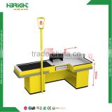 retail convenience store cash table furniture dimension design grocery cashier checkout counter for shop