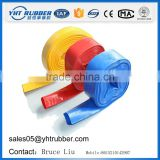 Reinforced 1-12 inch pvc layflat water drain or discharge hose for agriculture irrigation system