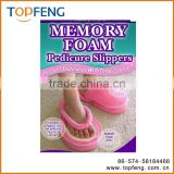 Memory foam pedicure slipper/memory foam slippers and insole/multi-functional slipper/Memory foam slipper