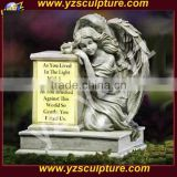 decorative carved natural stone religious statue for tombstone