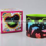 plastic colorful magic rainbow spring with printed dolphin toys/hot sale rainbow circle