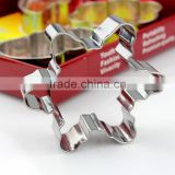 Christmas set gingerbread man cookie cutter stainless steel commercial beard cookie cutter