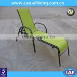 Cheap chaise lounge outdoor stackable sling sunbed garden sling sun lounger