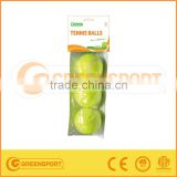 tennis ball PVC bag with head card with 3 balls