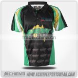 full dye sublimation racing jerseys 100% polyester causal T shirts gym cricket jerseys
