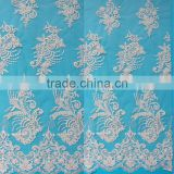 Free sample african tulle lace dress fabric from factory