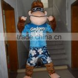 2015 Newly Customized Polyfoam Adult Wearing Sunshine Sea Beach Ape Monkey Mascot Costume