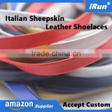 Amazon Hot Selling Leather Laces - Metal Aglets Sheepskin Leather Shoelaces Manufacturer - Accept Custom - amzon/eBay Supplier