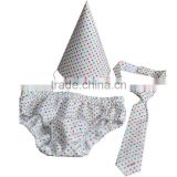 On Sale New Born Baby First Birthday Outfit Clothes 3 Pieces Set Hat and Tie and Underpant