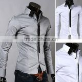 Wholesale walson Hot Sale Spring New Fashion Casual Men's Solid Color Long-Sleeved Shirt apparel
