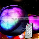 Fashion design Crystal magic light color changing ball portable smart control color changing led bluetooth speaker