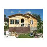Steel Structure Modern Wooden Log Houses , High Insulation Prefab Bungalow Homes