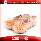 Sexy Professional Elegant Soft Canvas Ballet Pointe Shoes With Flower for Practice Dance