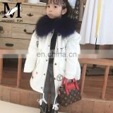 OEM Service Factory Wholesale Children Fur Parka Raccoon Fur Hooded Jacket Kids Parka Jacket