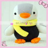 lovely plush penguin toy with scarf