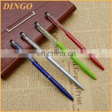 Colorful crystal stylus pen customized logo engraved crystal stylus pen