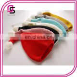 Cute whlolesale fashion hot baby hats soft knitted large ball wool cap