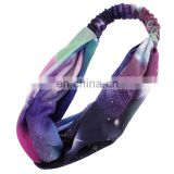 Colorful Printing Design OEM Moisture Wicking Fabric Ladies Seamless Headband