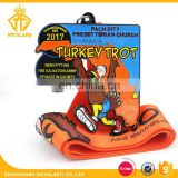 Factory Price Custom Turkey Trot Sport Medal for Thanksgiving Day