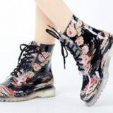 Popular Style Women shoes,New fashion Transparent Lady rain shoes,Transparent PVC rain shoes
