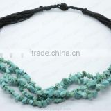 Turquoise Chip Gemstone Necklace