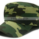 Forest Camo Solid Army GI Washed Military Cadet Patrol Castro Cap