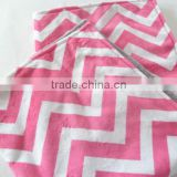 Lovey Baby Girl Chevron Stroller Blanket