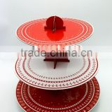 Custom 3 tiers cupcake stand for Christmas,paper cardboard cake stand for party                                                                         Quality Choice