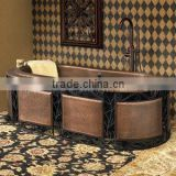 Abstract Art Hotel Copper Decoration Bathtub Hotel And Home                                                                         Quality Choice