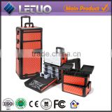 Aluminum Trolley Make Up Case,Aluminum Rolling Hairdressing Case,Aluminum Trolley Cosmetic Case
