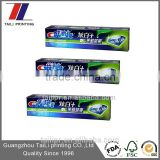 Custom toothpaste tube packaging,paper printed toothpaste box size