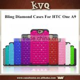 NEW Arrival Hybrid Rubbered Shockproof Anti-Skid Bling Diamond Mobile Phone Cases For HTC One A9
