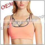 Hot wholesale Fitness Wear Quick Drying Professional Ladies Sexy Cross Back Sports Fitness Yoga Bra