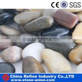 Landscaping mix color polished pebble stone natural stone