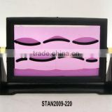 PINK MOVING SAND PICTURE/SAND ART IN MOTION WITH STAND