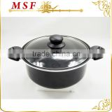 forged aluminum imitation nonstick coating pressed aluminum casserole hot pot cheap price