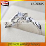 New 925 Sterling Silver Rings For Women Fashion Crystal Wedding Jewelry Couple Rings For Lovers