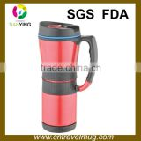 16OZ stainless steel thermo insulated vacuum auto coffee mug with handle