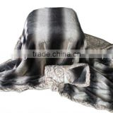 printed double layer micro mink and micro short plush fleece blanket