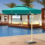 Large Windproof Green Round Square Side Standing Celi Baliness Outdoor Garden Patio Beach Parasol Umbrellas with marble base