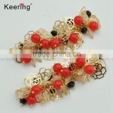 Keering colorful flower beads connecor for hair or bikini swimwear WCK-960