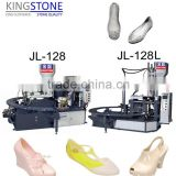 Automatic Rotary PVC Air Blowing/PCU/JELLY/Crystal Slipper Shoes Injection Moulding Machine JL-128