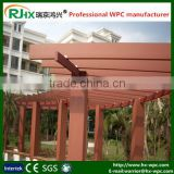 Morden pergola 3x3m with eco-friendly wood plastic composite deck material for outdoor landscape places
