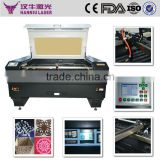 Hanniu K1390 laser engraving cutting laser machine/co2 paper/leather/cloth/fabric laser cutting machine automatic fabric laser