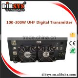 100-300W Forced air cooling system High performance Indoor TV Transmitter/translator with dvb-t2/isdb-t modulator