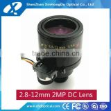 "1/2.7"" 2.8-12mm two motors zoom and focus telephoto high quality with factory price motorlized lens"