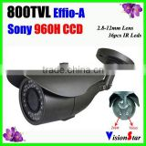 Video Camera System 800TVL Sony CCD Effio-A 36 Pcs IR Leds Hot Selling OSD Menu IP66 Weatherproof Outdoor Bullet Security Camera