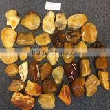 Polished Natural Baltic Amber stones fraction 100 - 200 , Amber raw stone